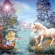 Unicorns Lake Poster