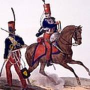 Uniforms Of The 5th Hussars Regiment Poster