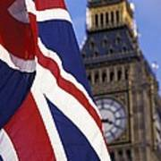 Union Flag And Big Ben Poster