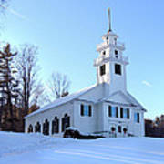 Union Meeting House In West Newbury Vermont Poster