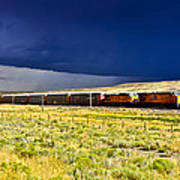 Union Pacific Racing A Thunder Storm Poster