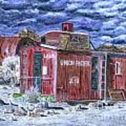 Union Pacific Train Car Painting Poster