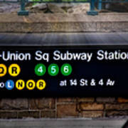 Union Square Subway Station Poster by Susan Candelario