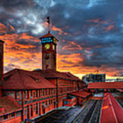 Union Station Portland Oregon Poster