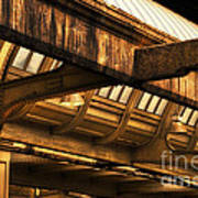 Union Station Roof Beams Poster