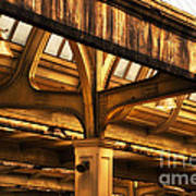 Union Station Roof Structure Poster