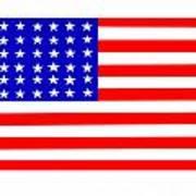 United States 30 Stars Flag Poster