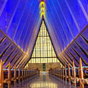 United States Airforce Academy Chapel Interior Poster