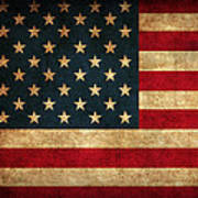 United States American Usa Flag Vintage Distressed Finish On Worn Canvas Poster by Design Turnpike