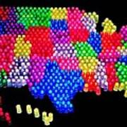 United States Of Lite Brite Poster