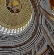 Unites States Capitol Rotunda Poster by Susan Candelario