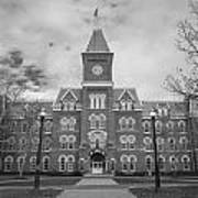 University Hall Black And White Poster