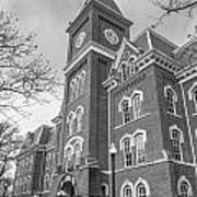 University Hall From Side Black And White  Poster