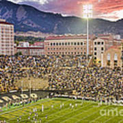 University Of Colorado Boulder Go Buffs Poster