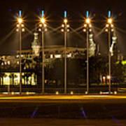 University Of Tampa At Night Poster