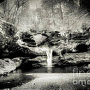 Upper Falls Old Mans Cave In Infrared Poster