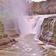 Upper Falls On The Genesee River Poster