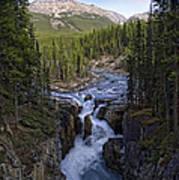 Upper Sunwapta Falls - Canadian Rockies Poster