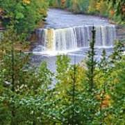 Upper Tahquamenon Falls In Early Autumn Poster