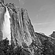 Upper Yosemite Fall With Half Dome Poster