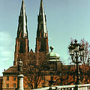 Uppsala Cathedral Steeples Poster