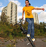 Urban Bmx Flatland With Monika Hinz Poster