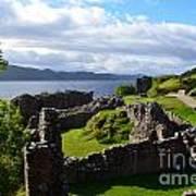 Urquhart Castle Ruins Poster