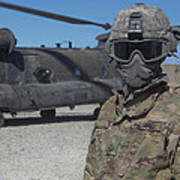 U.s. Army Soldier Stands Ready To Load Poster
