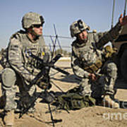 U.s. Army Soldiers Setting Poster by Stocktrek Images