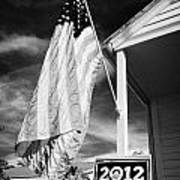 Us Flag Flying And Barack Obama 2012 Us Presidential Election Poster Florida Usa Poster