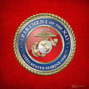 U. S. Marine Corps - U S M C Seal  Poster