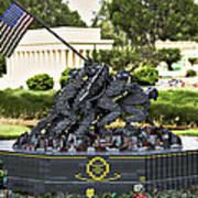 Us Marine Corps War Memorial Poster by Ricky Barnard