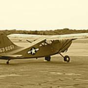 U.s. Military Recon Single Engine Plane Poster