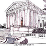 Us Supreme Court Building Poster