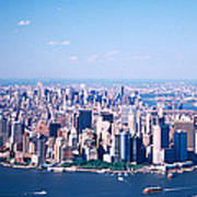 Usa, New York, Lower Manhattan, Aerial Poster