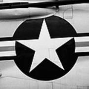 Usaf Star And Bars Insignia On A Mcdonnell F3b F3 Demon  Poster