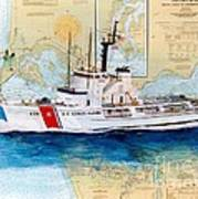 Uscg Alert Coast Guard Chart Map Art Peek Poster
