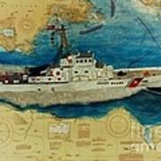 Uscg Cuttyhunk Nautical Chart Art Peek Poster