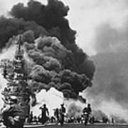 Uss Bunker Hill Kamikaze Attack  Poster