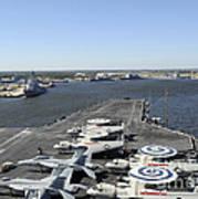 Uss Enterprise Arrives At Naval Station Poster by Stocktrek Images