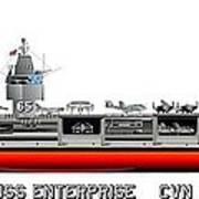 Uss Enterprise Cvn 65 1975- 1981 Poster