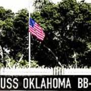 Uss Oklahoma Bb-37 Poster