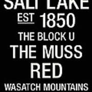 Utah College Town Wall Art Poster by Replay Photos