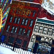 Utica In The Winter Poster by Stephanie Grooms