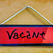 Vacant Poster