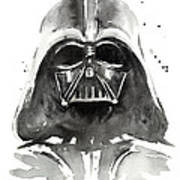 Darth Vader Watercolor Poster