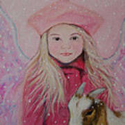 Valentina Little Angel Of Perseverance And Prosperity Poster by The Art With A Heart By Charlotte Phillips