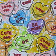 Valentine Candy Hearts Poster