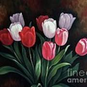 Valentine's Day Tulips Poster