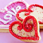 Valentines Hearts Poster by Elena Elisseeva